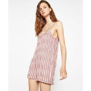 Zara Textured Striped Beach Romper